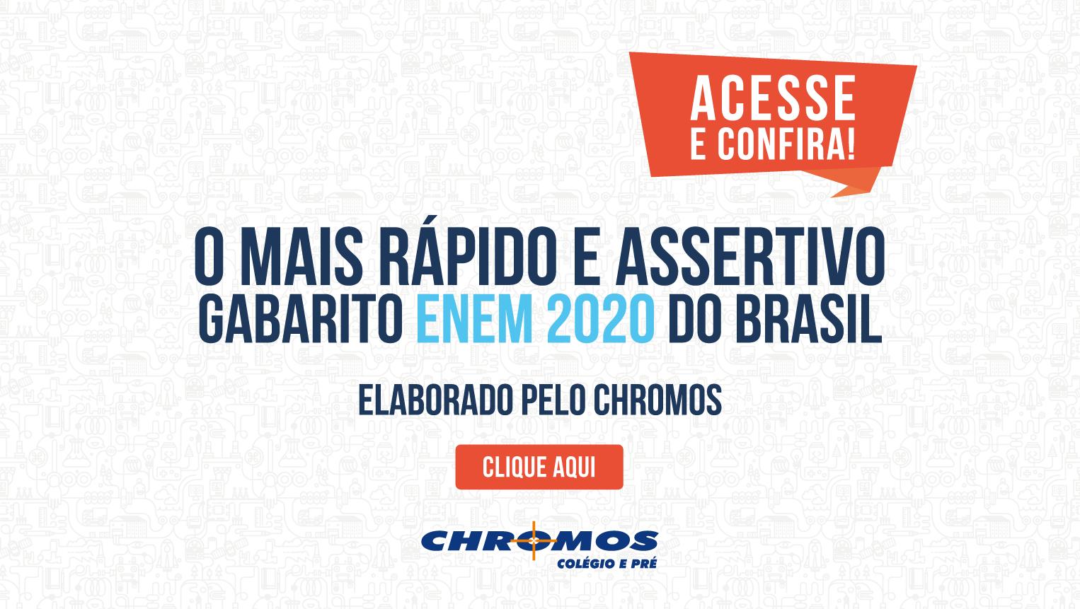 CHROMOS GABARITO ENEM 2020